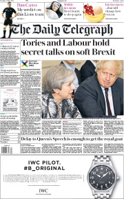 The Daily Telegraph (UK) Newspaper Front Page for 13 June 2017