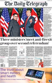 The Daily Telegraph (UK) Newspaper Front Page for 13 June 2018