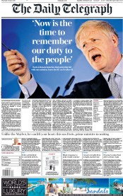 The Daily Telegraph (UK) Newspaper Front Page for 13 June 2019