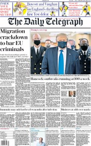 The Daily Telegraph front page for 13 July 2020