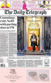 The Daily Telegraph front page for 14 November 2020