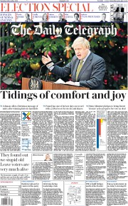 The Daily Telegraph () Newspaper Front Page for 14 December 2019