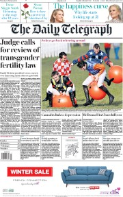 The Daily Telegraph () Newspaper Front Page for 14 February 2019