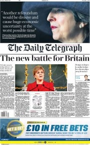 The Daily Telegraph (UK) Newspaper Front Page for 14 March 2017