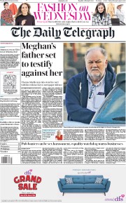 The Daily Telegraph (UK) Newspaper Front Page for 15 January 2020