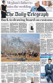 The Daily Telegraph (UK) Newspaper Front Page for 15 May 2018