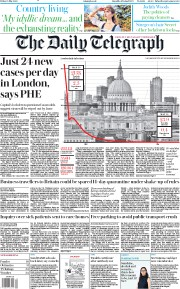 The Daily Telegraph (UK) Newspaper Front Page for 15 May 2020