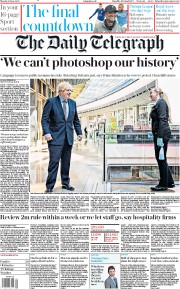 The Daily Telegraph (UK) Newspaper Front Page for 15 June 2020
