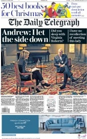 The Daily Telegraph (UK) Newspaper Front Page for 16 November 2019