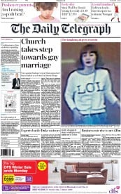 The Daily Telegraph (UK) Newspaper Front Page for 16 February 2017
