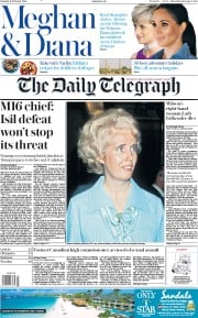 The Daily Telegraph (UK) Newspaper Front Page for 16 February 2019