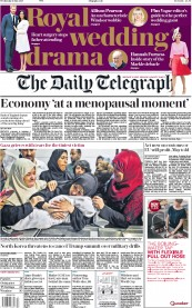 The Daily Telegraph (UK) Newspaper Front Page for 16 May 2018