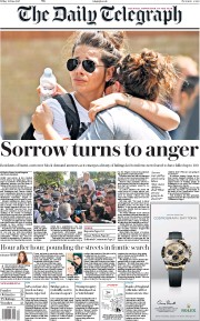 The Daily Telegraph (UK) Newspaper Front Page for 16 June 2017