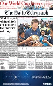 The Daily Telegraph () Newspaper Front Page for 16 July 2019