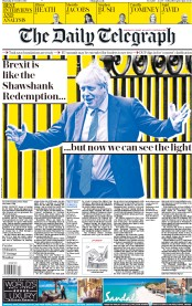 The Daily Telegraph (UK) Newspaper Front Page for 17 October 2019