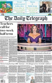 The Daily Telegraph front page for 17 October 2020