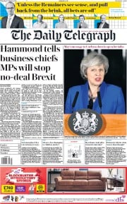 The Daily Telegraph (UK) Newspaper Front Page for 17 January 2019