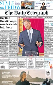 The Daily Telegraph (UK) Newspaper Front Page for 17 January 2020