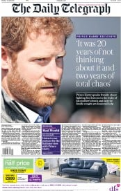 The Daily Telegraph (UK) Newspaper Front Page for 17 April 2017