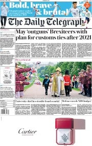 The Daily Telegraph (UK) Newspaper Front Page for 17 May 2018
