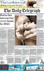 The Daily Telegraph (UK) Newspaper Front Page for 17 June 2019
