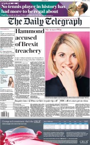 The Daily Telegraph (UK) Newspaper Front Page for 17 July 2017