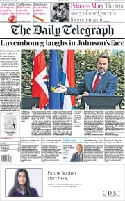 The Daily Telegraph (UK) Newspaper Front Page for 17 September 2019