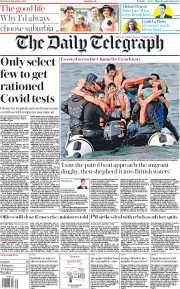 The Daily Telegraph front page for 17 September 2020