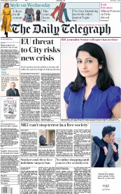 The Daily Telegraph (UK) Newspaper Front Page for 18 October 2017