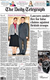 The Daily Telegraph (UK) Newspaper Front Page for 18 December 2014