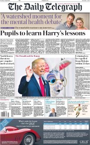 The Daily Telegraph (UK) Newspaper Front Page for 18 April 2017