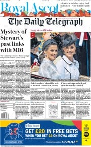 The Daily Telegraph (UK) Newspaper Front Page for 18 June 2019