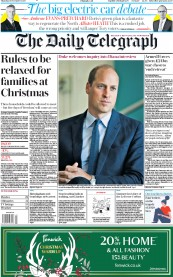 The Daily Telegraph front page for 19 November 2020