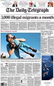 The Daily Telegraph (UK) Newspaper Front Page for 19 December 2014