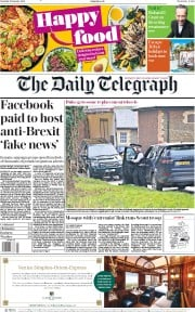 The Daily Telegraph (UK) Newspaper Front Page for 19 January 2019