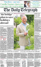 The Daily Telegraph front page for 19 May 2020