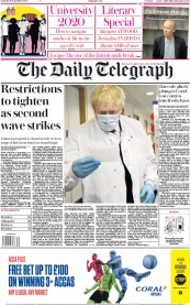 The Daily Telegraph front page for 19 September 2020