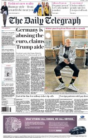 The Daily Telegraph (UK) Newspaper Front Page for 1 February 2017