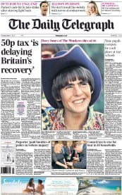 The Daily Telegraph (UK) Newspaper Front Page for 1 March 2012