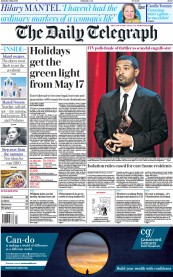 The Daily Telegraph front page for 1 May 2021