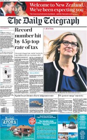 The Daily Telegraph (UK) Newspaper Front Page for 1 June 2017