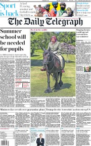 The Daily Telegraph (UK) Newspaper Front Page for 1 June 2020