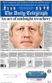The Daily Telegraph () Newspaper Front Page for 1 July 2016