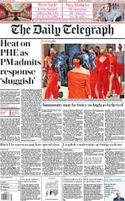 The Daily Telegraph front page for 1 July 2020