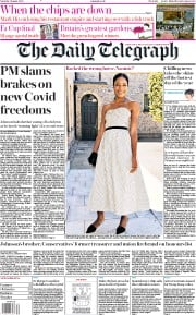 The Daily Telegraph (UK) Newspaper Front Page for 1 August 2020