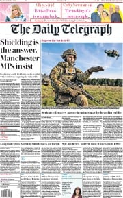 The Daily Telegraph (UK) Newspaper Front Page for 20 October 2020