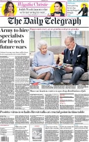 The Daily Telegraph front page for 20 November 2020