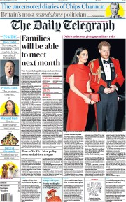The Daily Telegraph front page for 20 February 2021