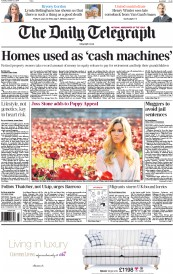 The Daily Telegraph (UK) Newspaper Front Page for 21 October 2014