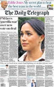 The Daily Telegraph (UK) Newspaper Front Page for 21 October 2019